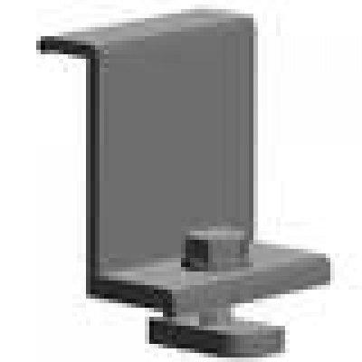 Endklemme für Rahmen H = 40 mm, schwarz